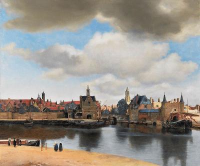 Vermeer - painting view on Delft